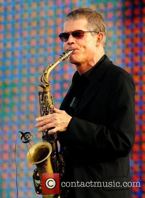 Legendary American alto saxophonist David Sanborn performs during...