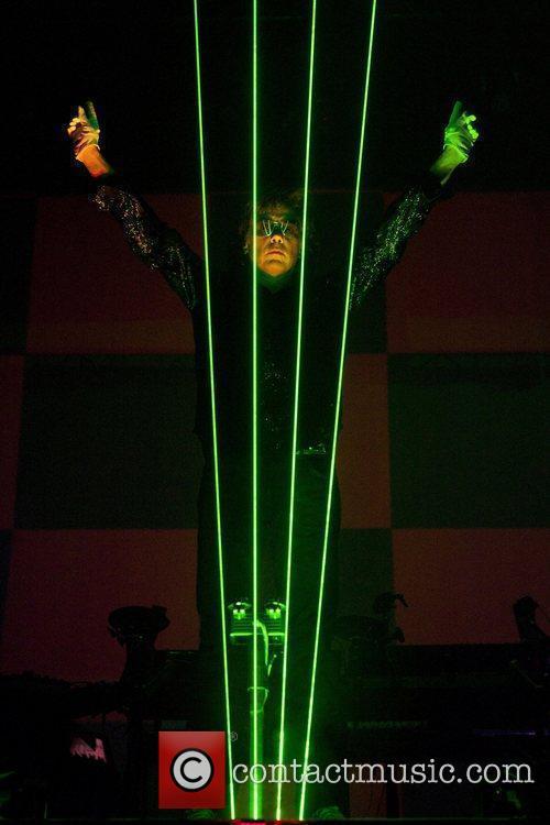 Jean Michel Jarre performs at Braehead arena