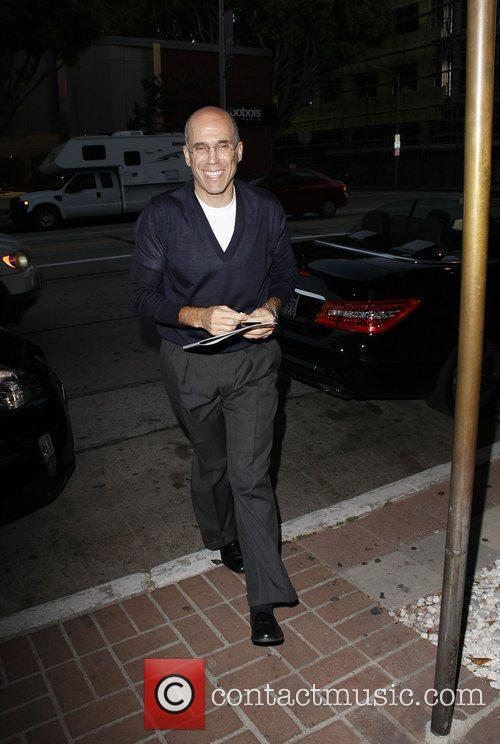 Jeffrey Katzenberg outside Madeo restaurant Los Angeles, California