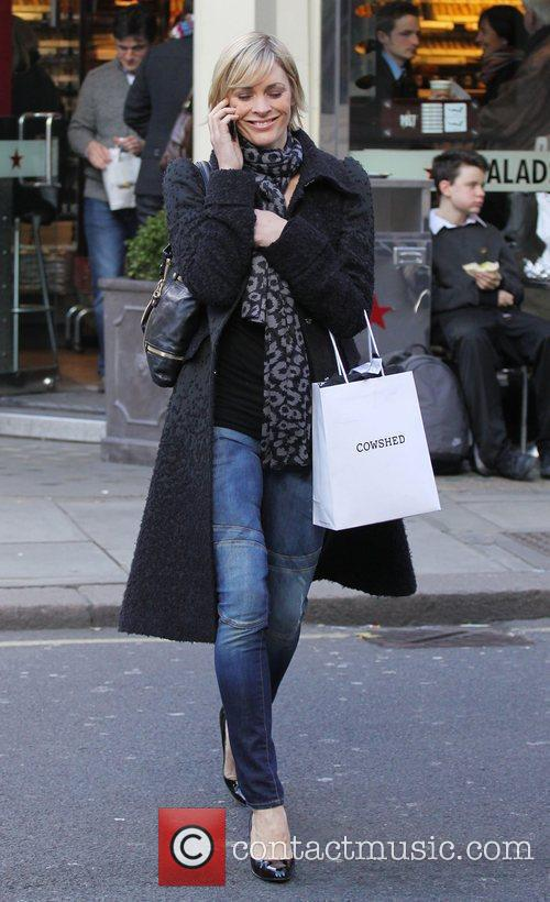 Jenni Falconer shopping in central London London, England
