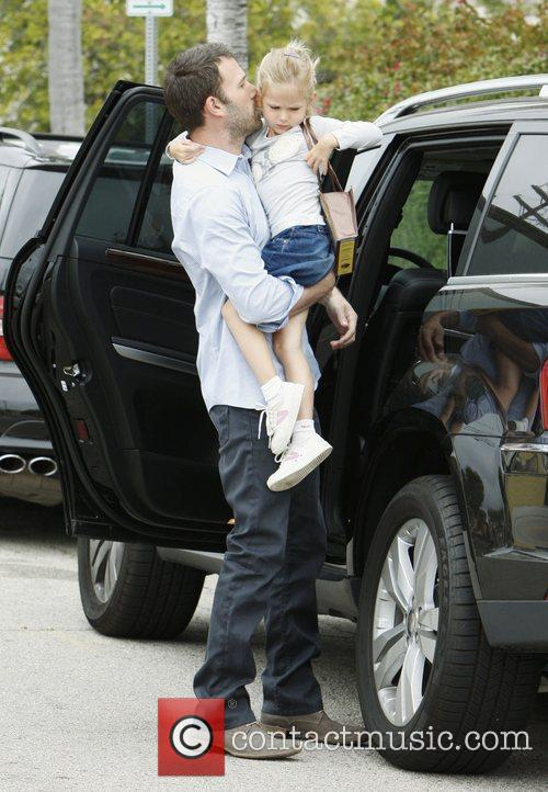 Ben Affleck and his daughter Violet Anne shopping...