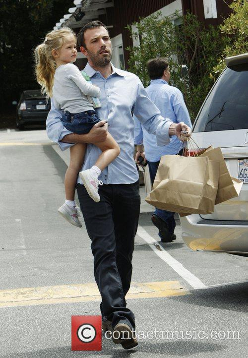 Ben Affleck, his daughter Violet Anne shopping at the market in Brentwood, CA.