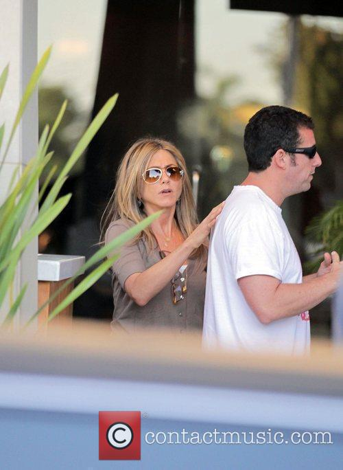 Jennifer Aniston and Adam Sandler film scenes for...