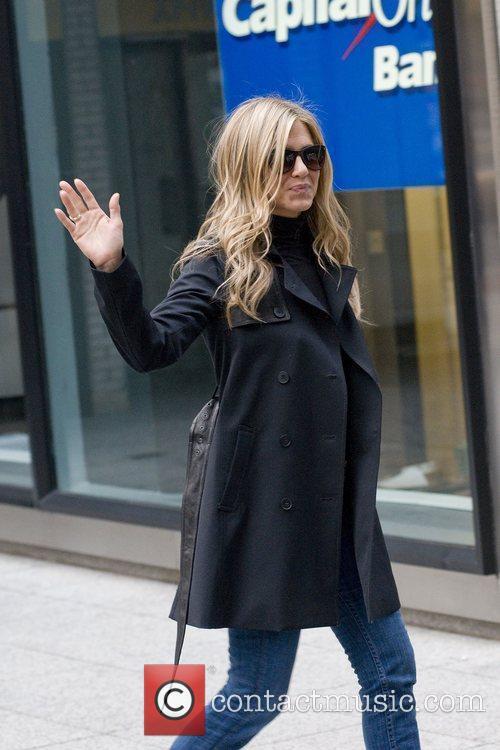 Jennifer Aniston is seen walking away from the...