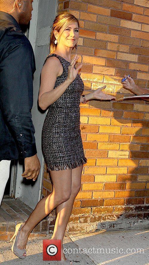 Jennifer Aniston outside Comedy Central TV studios after...