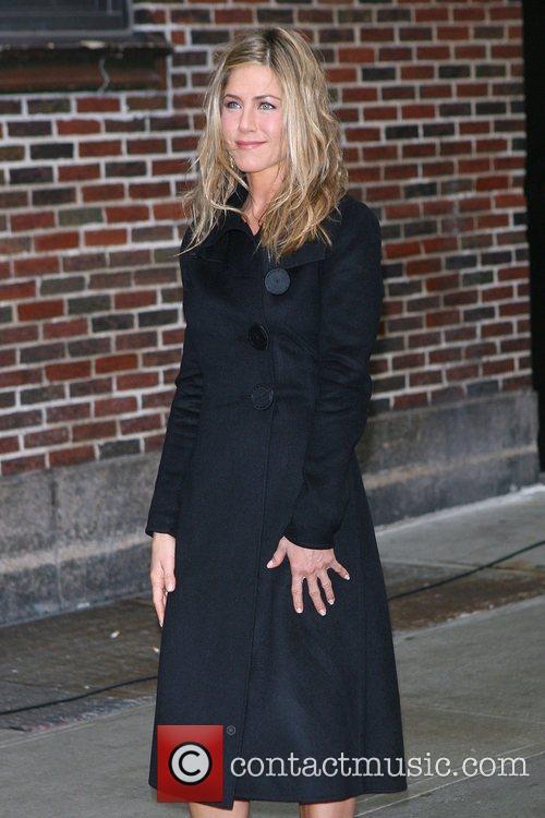 Jennifer Aniston, David Letterman, Ed Sullivan Theatre