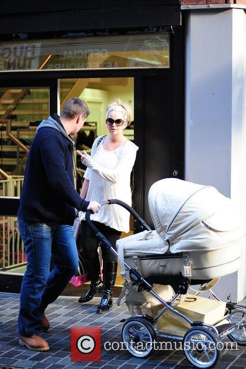 Jennifer Ellison and husband Robbie Tickle  with...