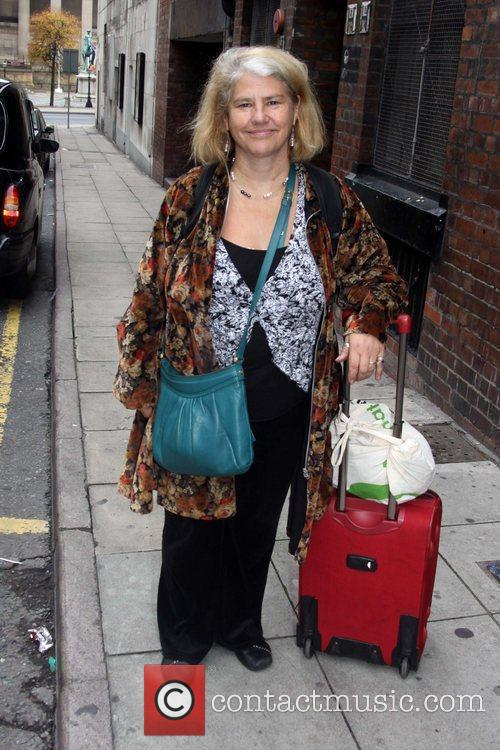 Denise Black arriving at the Liverpool Empire Theatre...