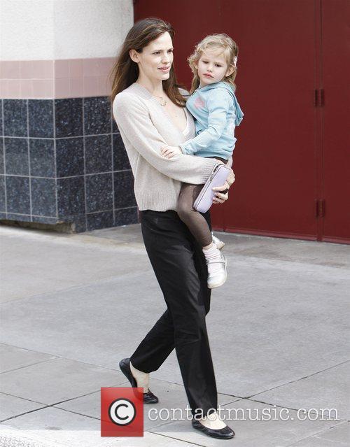 Jennifer Garner picked her her daughter Violet up...