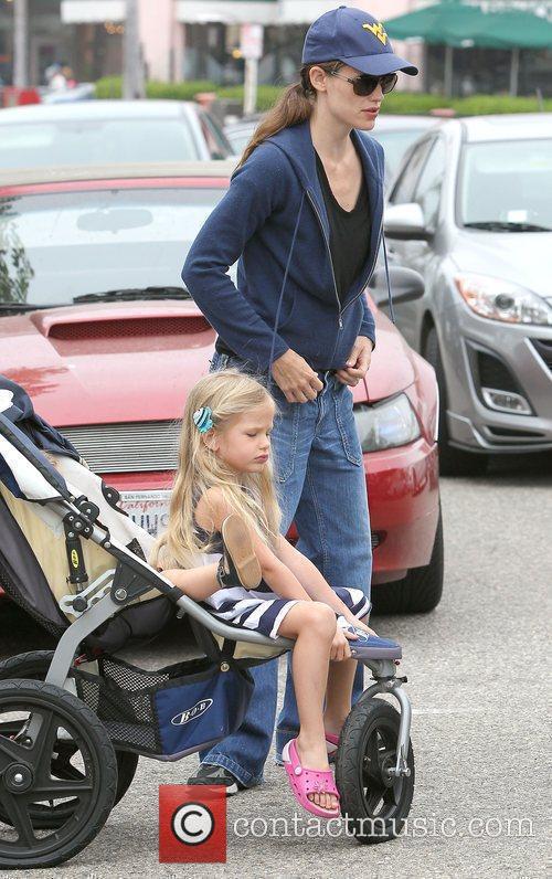 Actress Jennifer Garner enjoying a day out with...