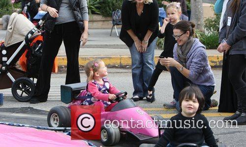Jennifer Garner's and her daughter, Serephina Affleck, at...