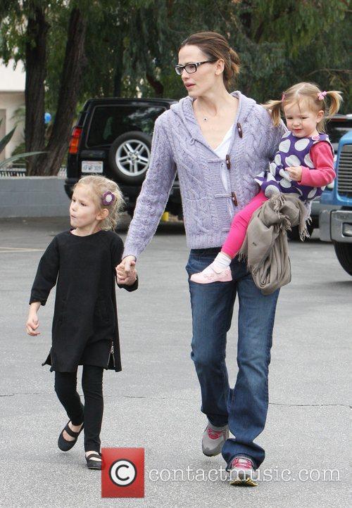 Jennifer Garner takes her daughter's, Seraphina and Violet...