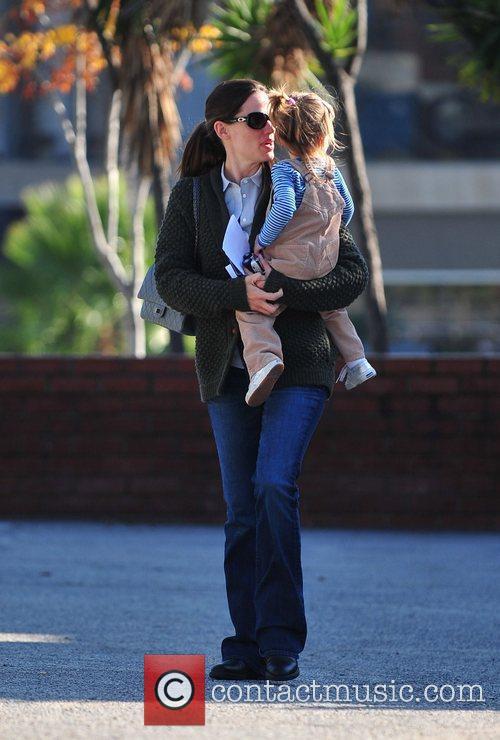 Jennifer Garner is seen leaving a dental office...