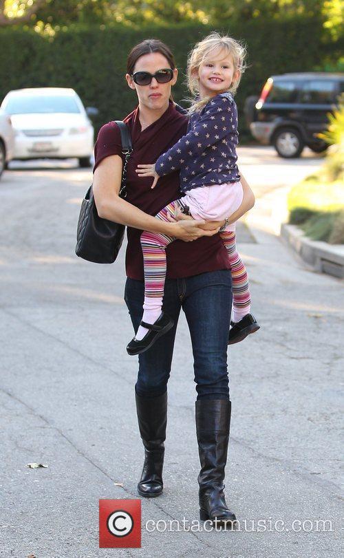 Jennifer Garner on her way to a playdate...