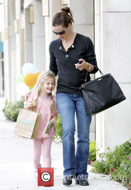Jennifer Garner in Brentwood with daughter Violet Affleck...