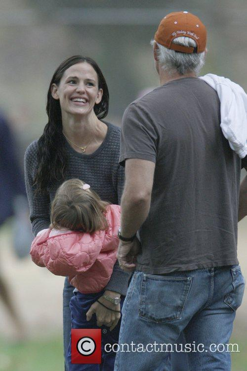 Jennifer Garner and her two daughters, Seraphina and...