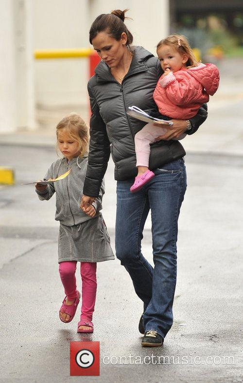 Jennifer Garner takes her her two daughters, Seraphina...