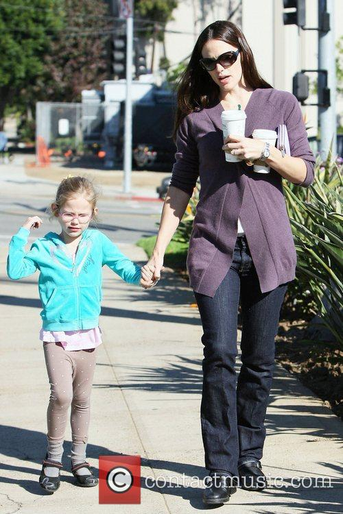Jennifer Garner and her daughter Violet Affleck go...