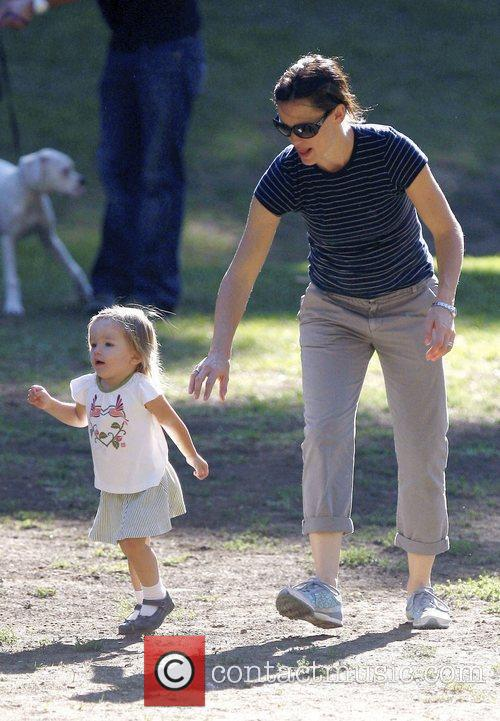 Jennifer Garner and her daughter Seraphina Affleck enjoy...