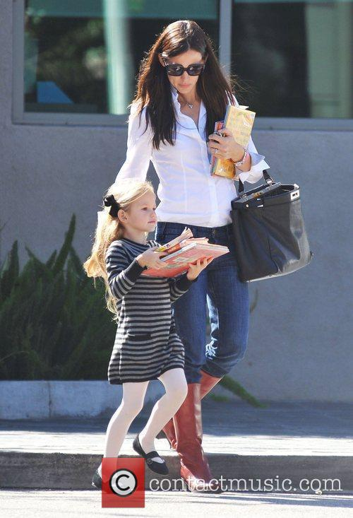 Jennifer Garner and her daughter Violet Affleck leave...
