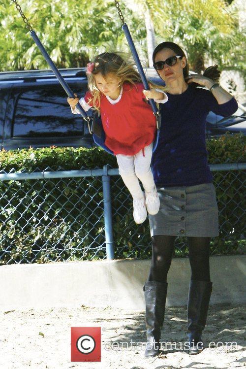 Jennifer Garner and daughter Violet Affleck at the...