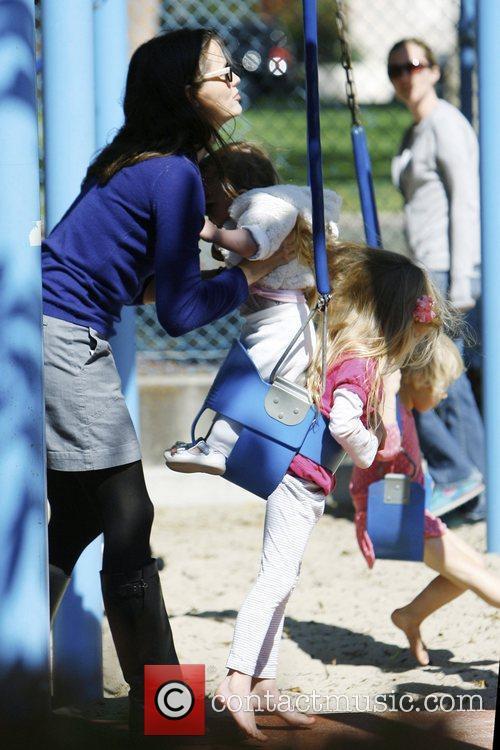 Jennifer Garner and daughters Seraphina Rose Affleck and...