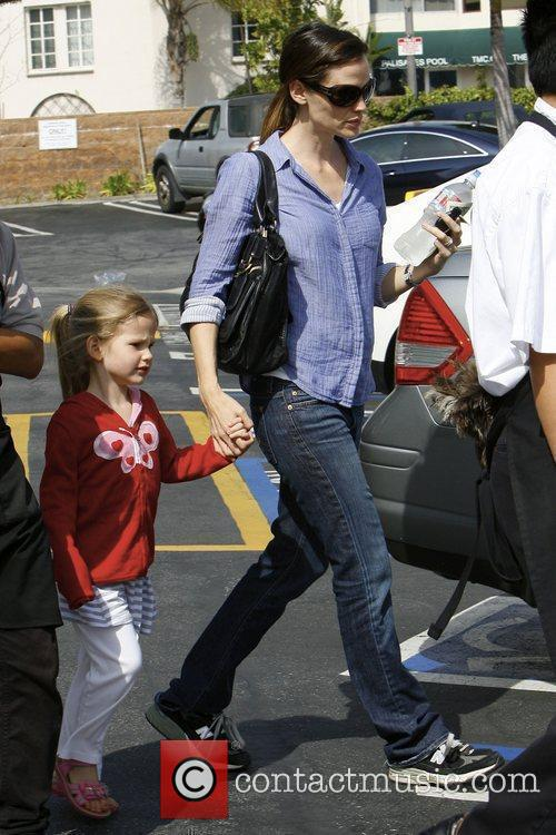 Jennifer Garner and her daughter Violet Affleck seen...