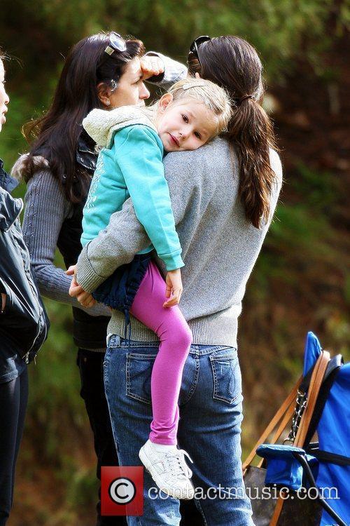 Jennifer Garner and her daughter Violet Affleck at...