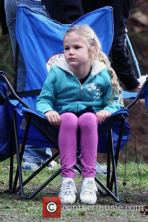Violet Affleck at a local Soccer Camp in...