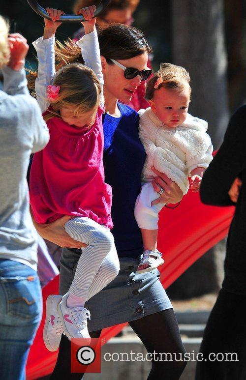 Jennifer Garner and daughters Violet and Seraphina Rose...