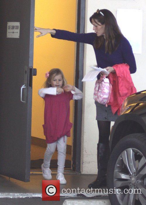 Jennifer Garner  arrives to pick up her...