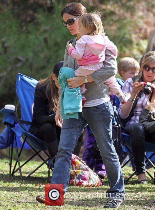 Jennifer Garner and her daughter Seraphina at a...