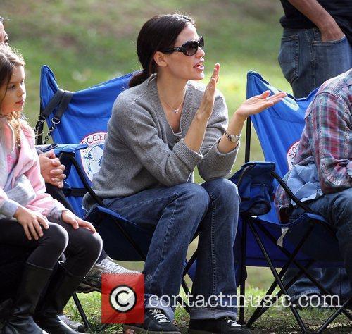 Jennifer Garner  at a local Soccer Camp...
