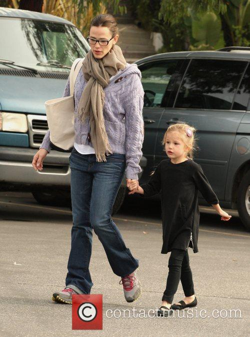 Jennifer Garner is seen playing with her two...