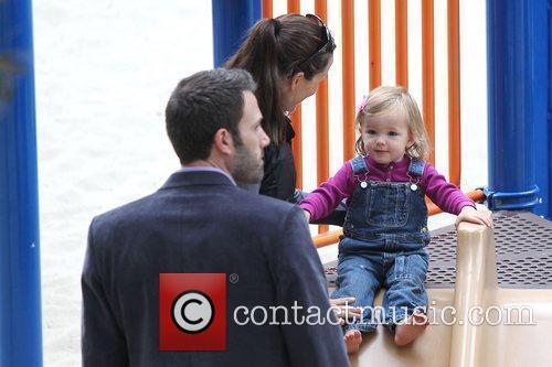 Ben Affleck and Jennifer Garner with their daughter...