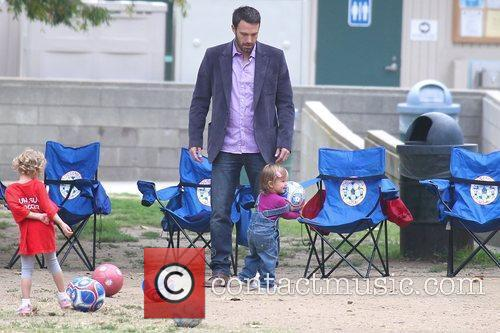 Ben Affleck watches his daughter Seraphina Rose Elizabeth...