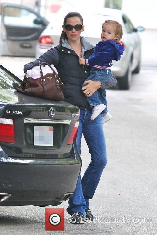 Jennifer Garner's and Seraphina Rose Elizabeth arrive at...