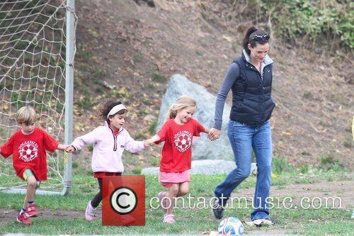 Jennifer Garner and her daughter Violet Anne (CR)...