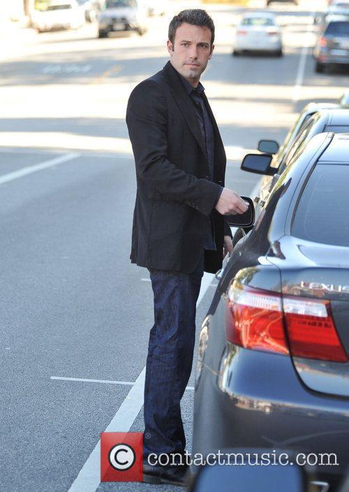 Ben Affleck returns to his car in Brentwood...