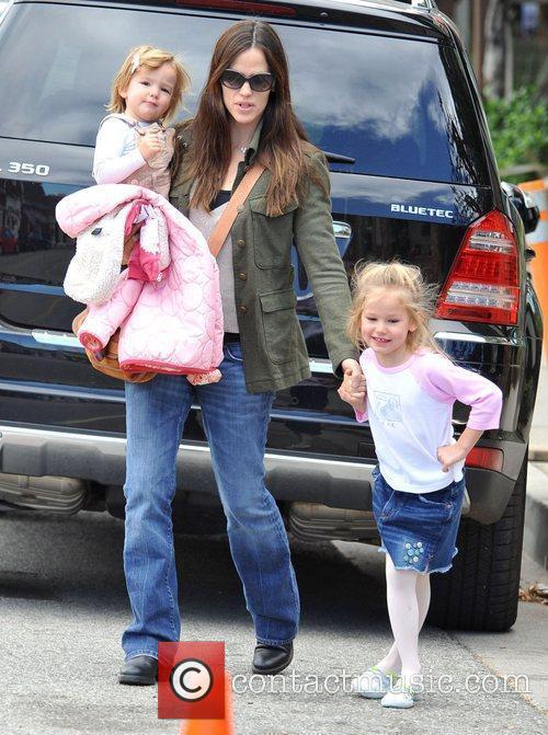 Jennifer Garner and her daughters Seraphina and Violet...