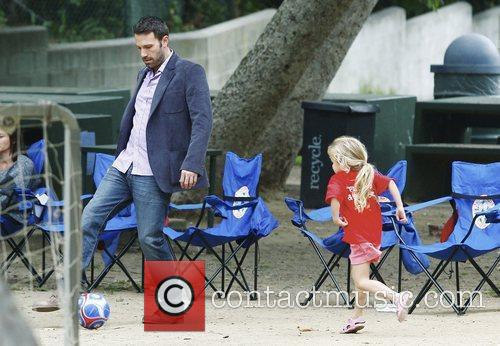 Ben Affleck and his daughter Violet Anne playing...