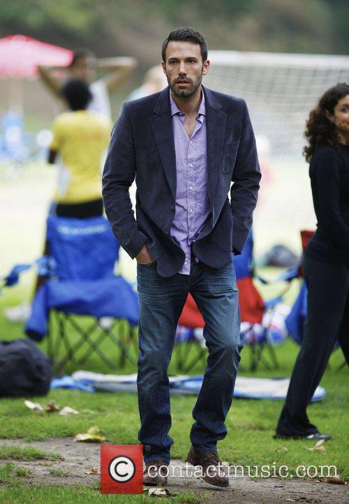 Ben Affleck at a Park in Santa Monica...