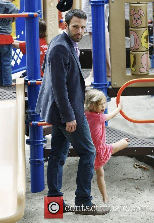 Ben Affleck with his daughter Violet Anne at...