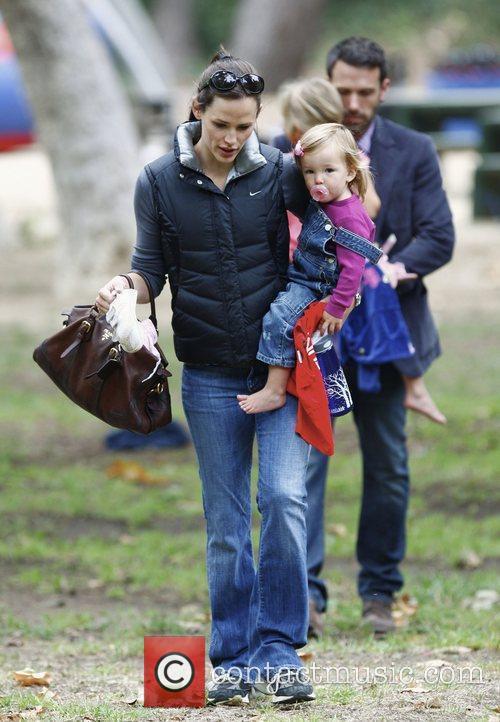 Jennifer Garner and Ben Affleck take their daughters...