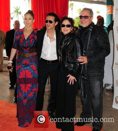 Marc Anthony, Jennifer Lopez, Gloria Estefan and Emilio...