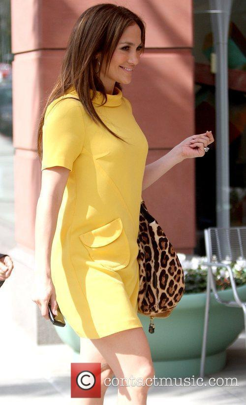 Arriving at Anastasia Beverly Hills Salon wearing a...