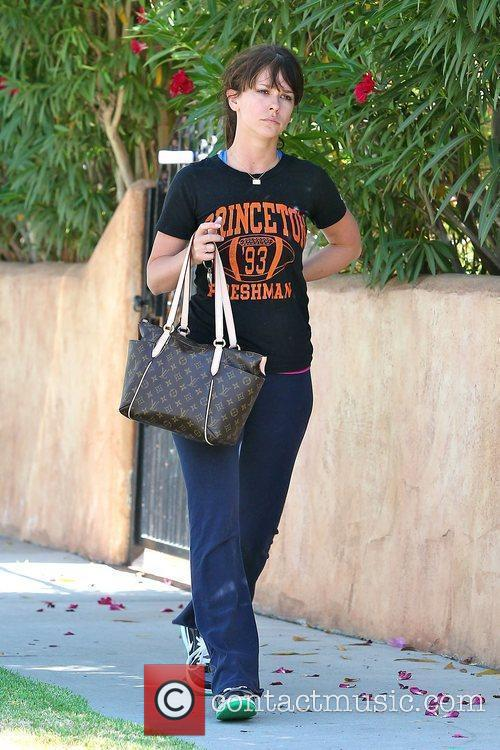After leaving her Pilates class in Toluca Lake.