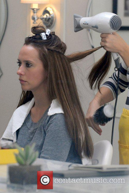 Getting Her Hair Blow Dried At Drybar In Studio City