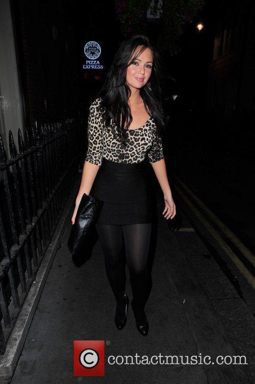 Hollyoaks star Jennifer Metcalf arrives Maya night club...