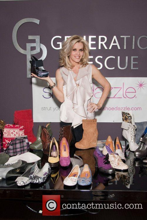 Jenny McCarthy At a design session with ShoeDazzle...